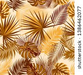 tropical vector seamless... | Shutterstock .eps vector #1386462077