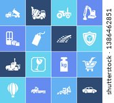 transportation icon set and... | Shutterstock .eps vector #1386462851
