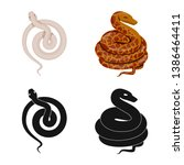 vector illustration of mammal... | Shutterstock .eps vector #1386464411