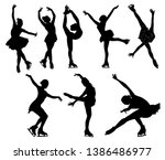 set of figure skating.... | Shutterstock .eps vector #1386486977