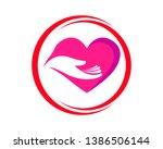hand care logo template vector...   Shutterstock .eps vector #1386506144