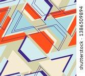 seamless dots modern pattern....   Shutterstock .eps vector #1386509894