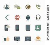 communication icons with white... | Shutterstock .eps vector #138651095