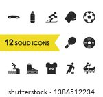 activity icons set with pancake ...