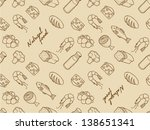 seamless food doodle pattern | Shutterstock .eps vector #138651341