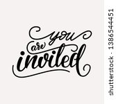 you are invited   wedding...   Shutterstock .eps vector #1386544451