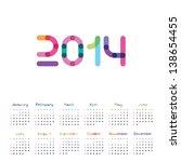 calendar for 2014 | Shutterstock .eps vector #138654455