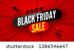 black friday sale banner  up to ... | Shutterstock .eps vector #1386546647