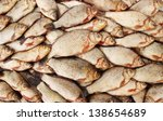 river fish carp on a white background - stock photo
