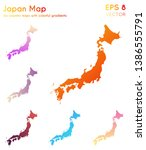Map Of Japan With Beautiful...