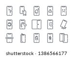 phone repair related line icon...