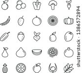 thin line vector icon set  ... | Shutterstock .eps vector #1386572894