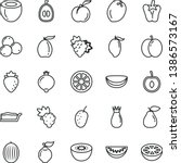 thin line vector icon set  ... | Shutterstock .eps vector #1386573167