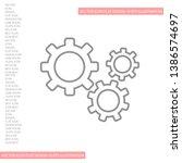 setting icon vector . lorem... | Shutterstock .eps vector #1386574697