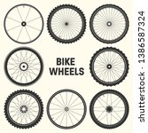 bicycle wheel symbol vector... | Shutterstock .eps vector #1386587324