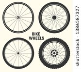 bicycle wheel symbol vector... | Shutterstock .eps vector #1386587327