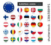 set of flags european union and ... | Shutterstock .eps vector #1386588491