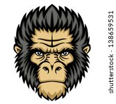 ape head logo in black and... | Shutterstock .eps vector #138659531