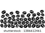 pattern with coffee beans.... | Shutterstock .eps vector #1386612461
