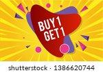 buy 1 get 1 free sale design... | Shutterstock .eps vector #1386620744