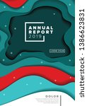 vector abstract annual report... | Shutterstock .eps vector #1386623831