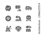 pollution icon set including... | Shutterstock .eps vector #1386625514