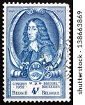 Small photo of BELGIUM - CIRCA 1952: a stamp printed in the Belgium shows Count Lamoral II Claudius Franz of Thurn and Taxis, Imperial Postmaster, circa 1952