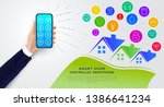 smart home controlled by...   Shutterstock .eps vector #1386641234