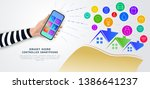 smart home remote control with...   Shutterstock .eps vector #1386641237