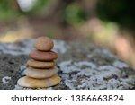 zen stone  symbol of balance... | Shutterstock . vector #1386663824