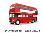 red double decker bus isolated... | Shutterstock . vector #138668675
