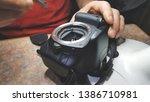 closeup of camera matrix...   Shutterstock . vector #1386710981