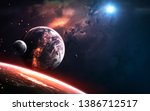 realistic planet render  deep... | Shutterstock . vector #1386712517