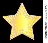 gold star with sparkling stones ... | Shutterstock . vector #138671597