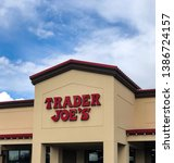 Small photo of Spokane, WA/USA - May 1, 2019: View of Trader Joe's store exterior. Trader Joe's is an American chain of grocery stores specializing in gourmet, organic vegetarian foods and beer & wine.