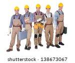 portrait of happy industrial... | Shutterstock . vector #138673067