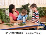 biology lesson in preschool  ... | Shutterstock . vector #13867489