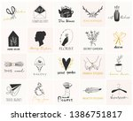 various simple  elegant and... | Shutterstock .eps vector #1386751817