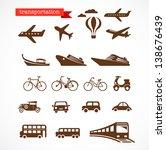 transportation icons set | Shutterstock .eps vector #138676439