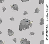 vector illustration. elephants... | Shutterstock .eps vector #1386768104