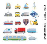 transportation icon set | Shutterstock .eps vector #138677015