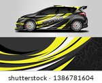 wrap livery decal car vector  ... | Shutterstock .eps vector #1386781604