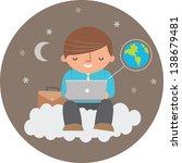 illustration of man using cloud ... | Shutterstock . vector #138679481
