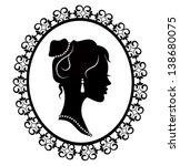 retro silhouette profile of a... | Shutterstock .eps vector #138680075