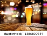 beer in glass and free space... | Shutterstock . vector #1386800954