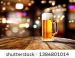 beer in glass and free space... | Shutterstock . vector #1386801014