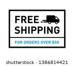 free shipping. on all orders.... | Shutterstock .eps vector #1386814421