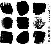 collection of spots  brush... | Shutterstock .eps vector #1386815477