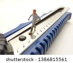 running mini figure man toy at... | Shutterstock . vector #1386815561