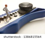 running mini figure man toy at... | Shutterstock . vector #1386815564